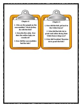 A to Z Mysteries WHITE HOUSE WHITE-OUT- Discussion Cards