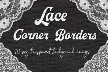 White Lace Corners Clipart