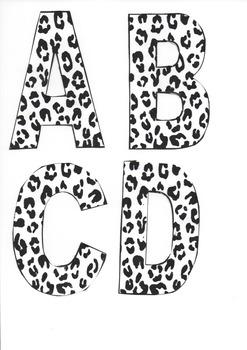 White Leopard Bulletin Letters A-D