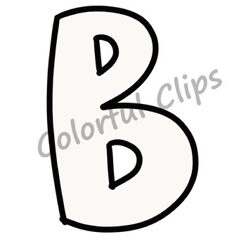 White Lettering - Colorful Clips