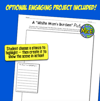 White Man's Burden: Primary Source Analysis of Kipling's Poem (& Bonus Project!)