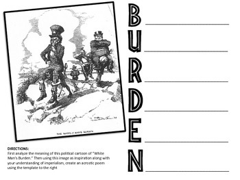 White Man's Burden Common Core Activity