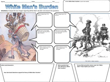 White Man's Burden Political Cartoons | TpT