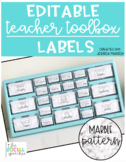 White Marble Teacher Toolbox Labels (EDITABLE)