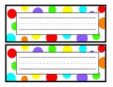 White Polka Dot Nameplate