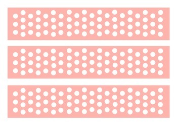 White Dots Classroom Bulletin Board Display Border