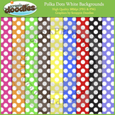 White Polka Dots on Color Backgrounds