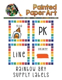 White Rainbow Art Supply Labels
