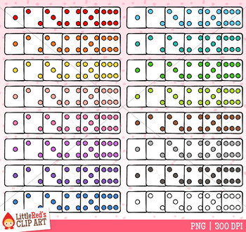 White Rainbow Dice Clip Art