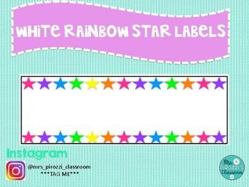 White Rainbow star labels #ausbts18