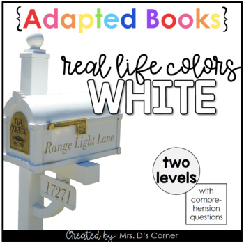 White - Real Life Colors Adapted Book Bundle | Real Picture Color Books