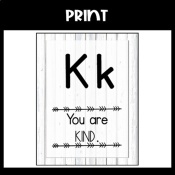 White Shiplap Alphabet Posters: Print