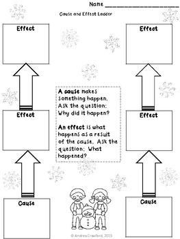 White Snow, Bright Snow Cause Effect Activity