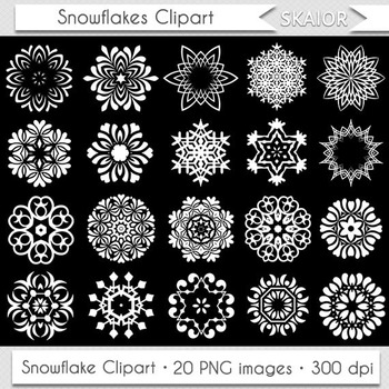 White Snowflake Clipart Snow Flake Clip Art Winter Frozen Christmas Tribal
