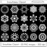 White Snowflake Clipart Snow Flake Clip Art Winter Frozen