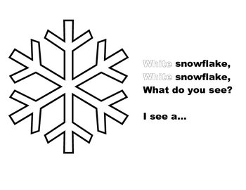 White Snowflake, White Snowflake flip book/feltboard set for pre-k & K