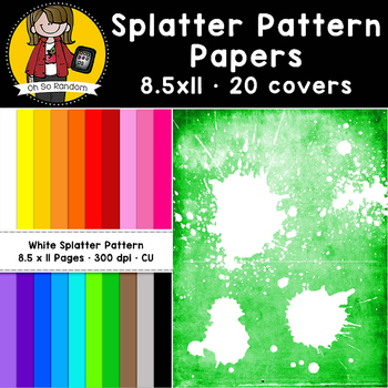 White Splatter Pattern Papers (CU)