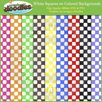 White Squares on Color Backgrounds