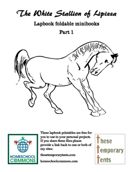 White Stallion of Lipizza lapbook foldables