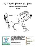 White Stallion of Lipizza lapbook foldables