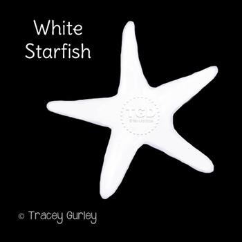 White Starfish - starfish clip art, beach Printable Tracey