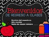 White Stitch Back to School & Open House PPT Template in Spanish ( EDITABLE )