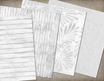 White Textures Digital Paper, Scrapbook Paper backgrounds