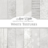 White Textures Digital Papers - backgrounds