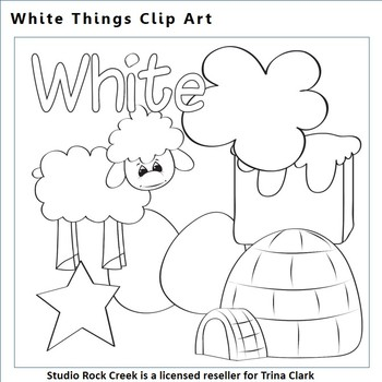 White Things Clip Art Line Drawing B/W  personal & commercial use