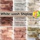 White-Wash Shiplap Digital Papers
