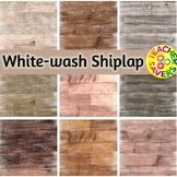 White-Wash Shiplap Digital Papers