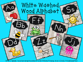 White Washed Wood Alphabet