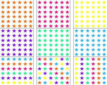 White With Colorful Stars Backgrounds