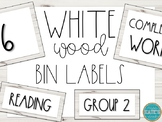 Bin/Tub Labels- White Wood (Editable)