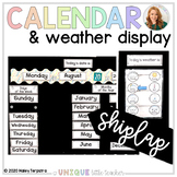White Wood Calendar and Weather Display