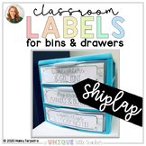 White Wood Classroom Labels