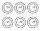 White Wood Clock Labels