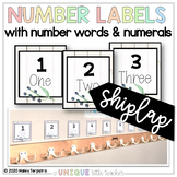 White Wood Number Labels