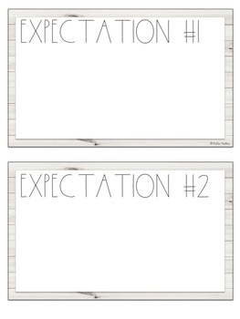 *FREEBIE* White Wood Rules/Expectations Posters