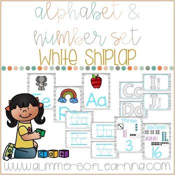White Wood Shiplap Alphabet Pack