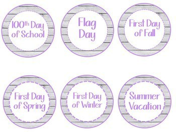 White Wood Shiplap  Calendar Pack