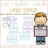 White Wood Shiplap  Calendar Pack