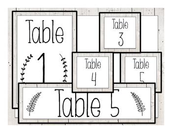 White Wood Table Labels & Signs