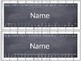 White Wood and Chalkboard Theme Student Name Tags