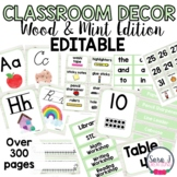 White Wood and Mint Classroom Decor