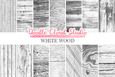 White Wood digital paper, Shabby Old Wood, Country Wood Backgrounds