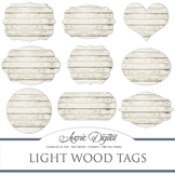 White Wood tags clip art Scrapbook printable wedding frame labels clipart