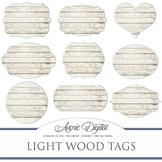 White Wood tags clip art Scrapbook printable wedding frame