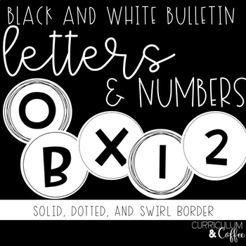White and Black Bulletin Letters