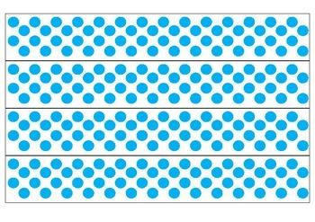 White and Blue Polka Dot Borders